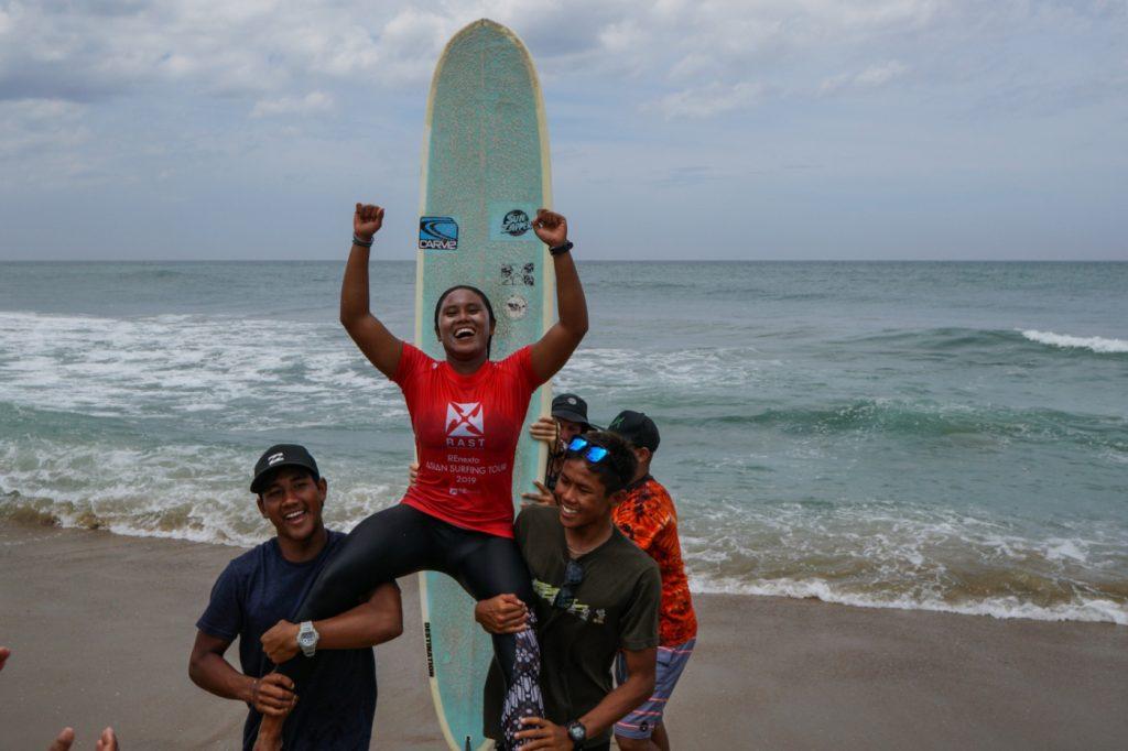 Indonesia's Mega Artana, Arip Nurhidayat, and Dhea Natasya Post Division Wins at RAST #2 at Covelong Point Surf, Yoga, Music Festival in Chennai-India