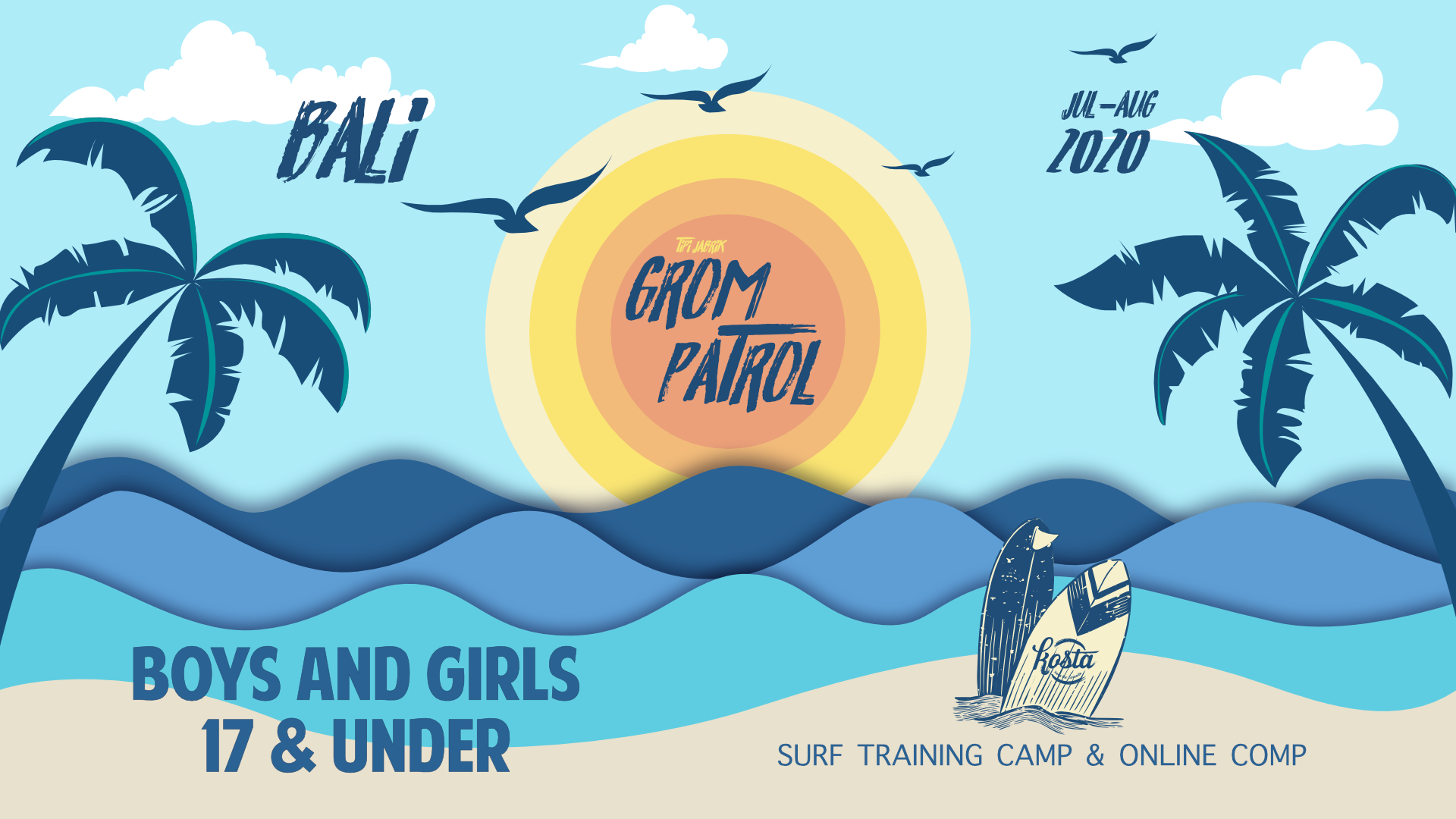 Tipi Jabrik's 2nd Annual Grom Patrol Camp and Comp 2020 Bali