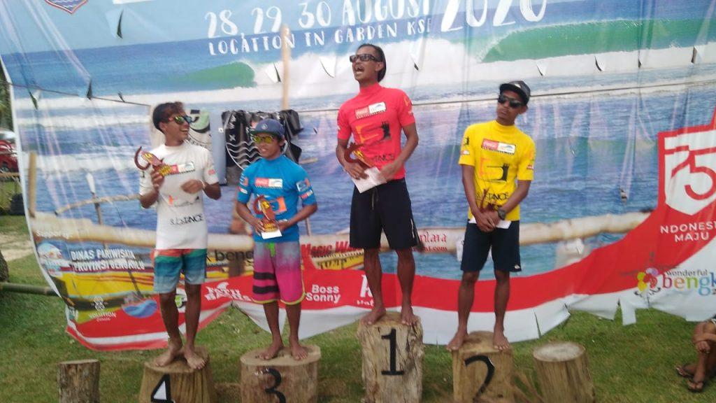 Diikuti 75 Peselancar, Banten Juara I Kejuaraan Nasional Kaur Surf Competition 2020 di Bengkulu
